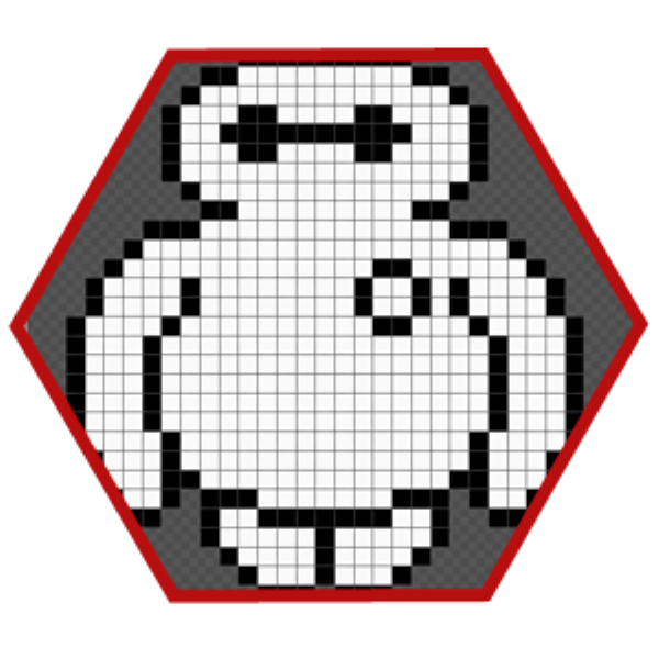 Baymax hecho en Pixel