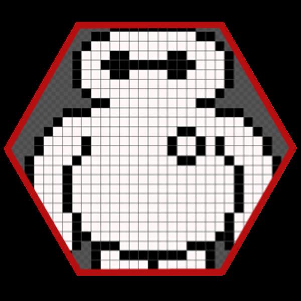 Beymax en pixel art