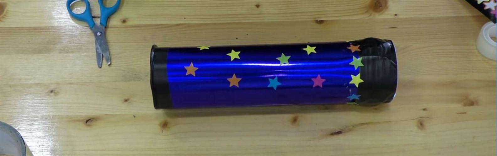 Actividad para niños de Reciclaje: Caleidoscopio