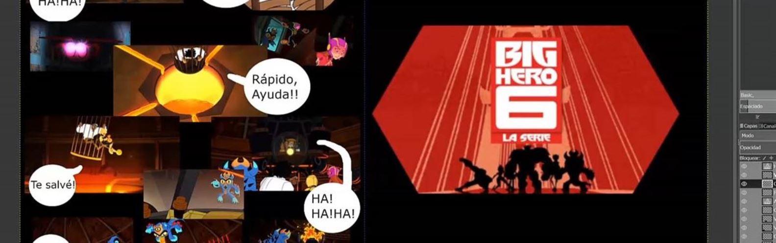 Actividad para niños de Arte 2D/3D: El comic de Fred