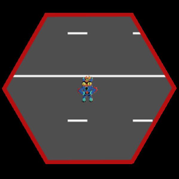 Fred cruza una carretera