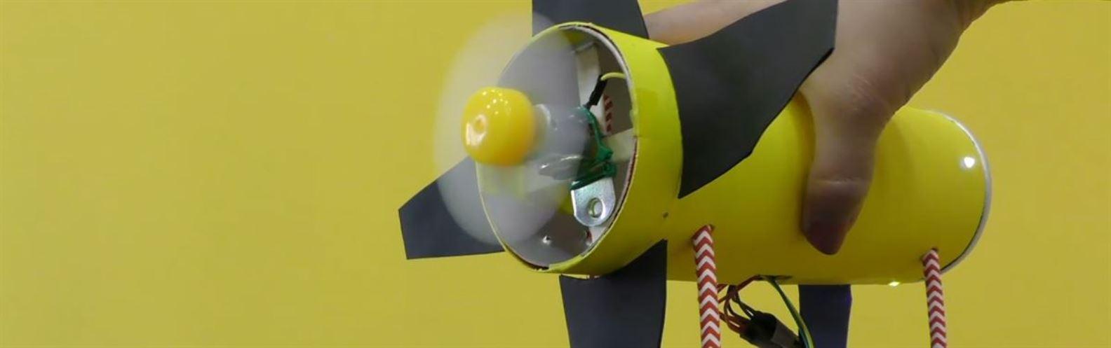 Actividad para niños de Robots: Generador de aire