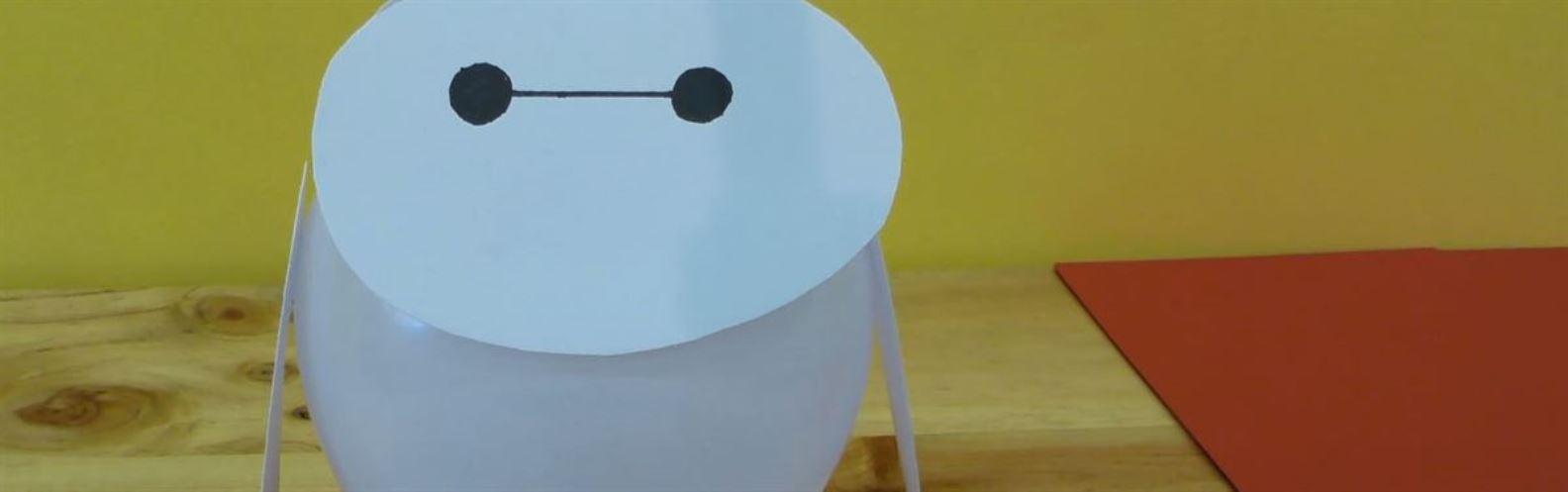 Actividad para niños de DIY: Lámpara Baymax