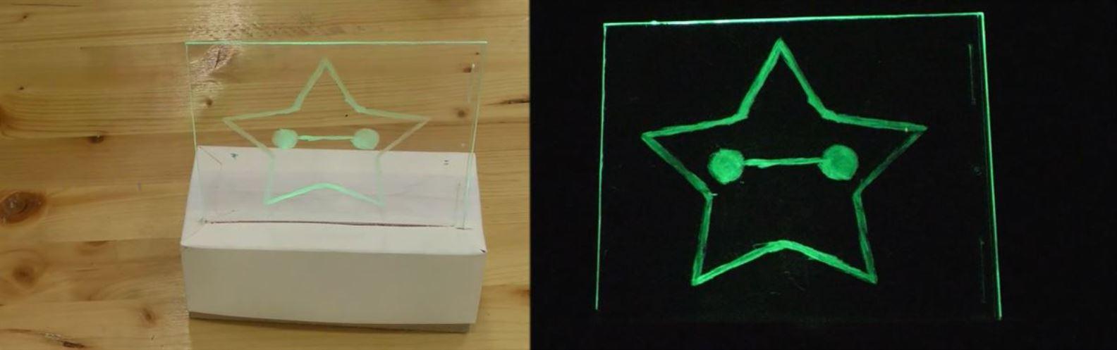 Actividad para niños de Robots: Lámpara de Navidad
