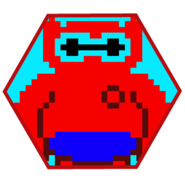 Pixel BayMax rojo