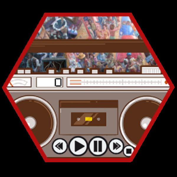 Radio cassete con boton de on/off y numerador de musica