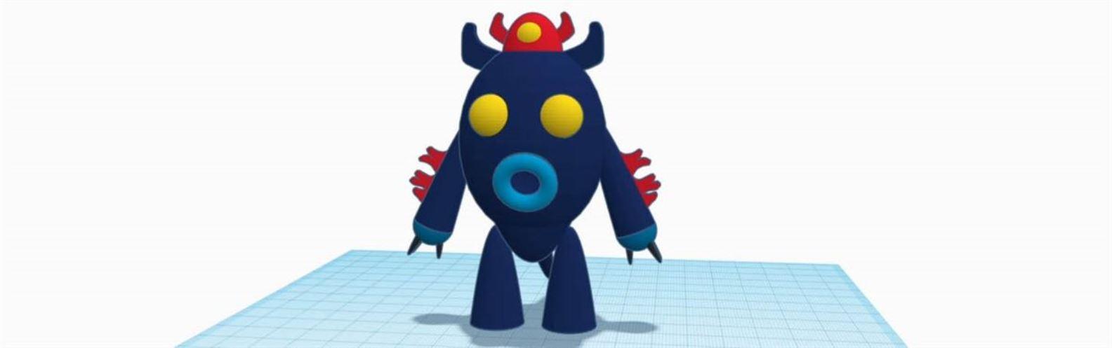 Actividad para niños de Arte 2D/3D: Tu monstruo en 3D